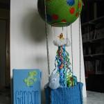 cune montgolfière en cadeau pour une naissance
