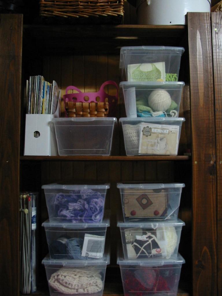 boîtes de rangement à multiples projets d'artisanats