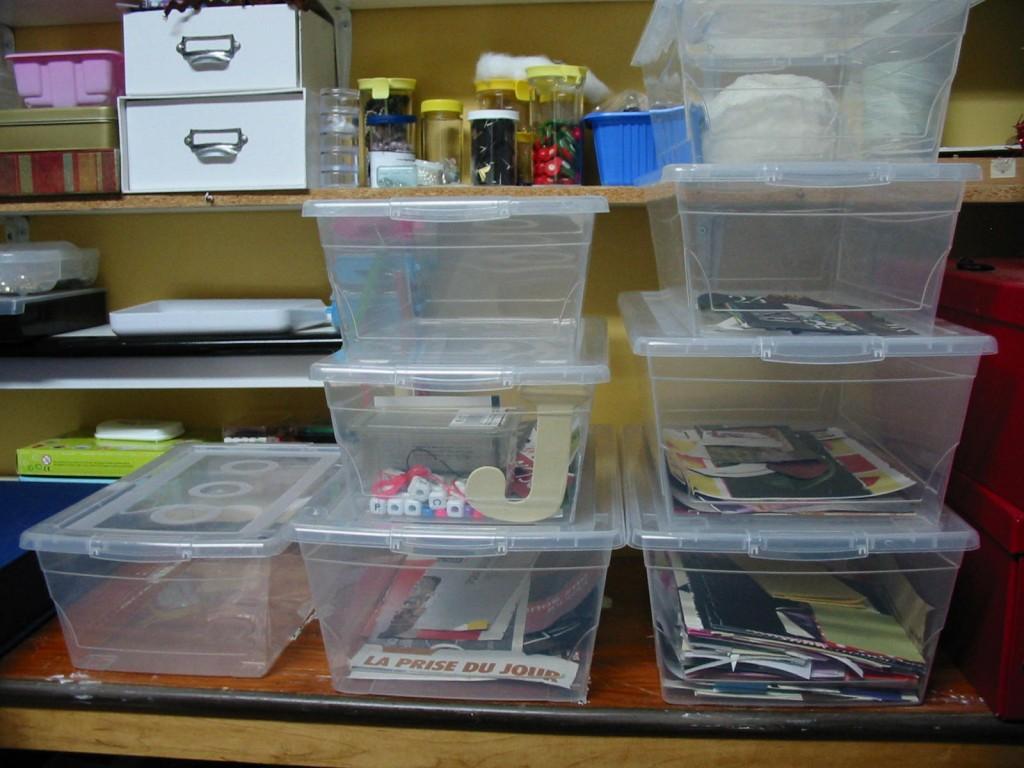 des boîtes de rangement pour des multiples projets d'artisanats