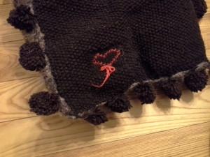 coussin tricoter au point de riz